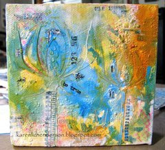 Be True:  Mixed Media Canvas 4x4