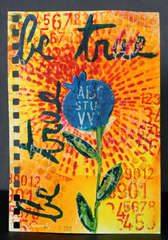Art Journal Page - Be True