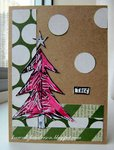Christmas Card - Pink Tree