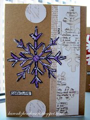 Christmas Card - Snowflake