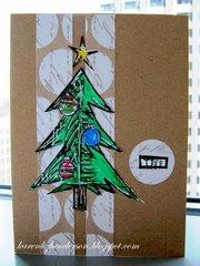 Christmas Card - Green Tree