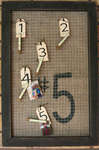 Canvas Corp Burlap and Xyron Fabric Adhesive Memo Board