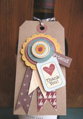 Wine bottle gift tag