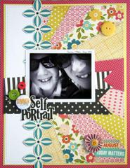 HIP KIT CLUB August 2012 - Self Portrait Layout