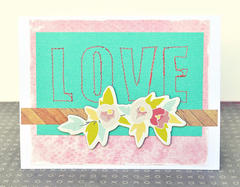 HIP KIT CLUB - January 2013 Kit - Stitched Love Card