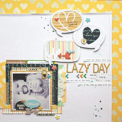 *HIP KIT CLUB - February 2013 Kit* Lazy Day Layout