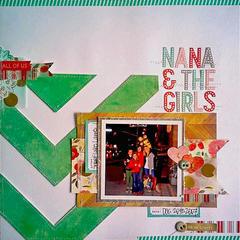 HIP KIT CLUB - January 2013 Kit - Nana & The Girls Layout
