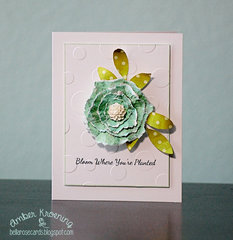Torn flower card