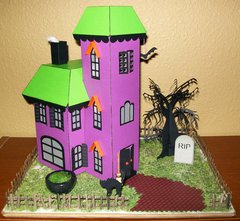 Papercraft Haunted House