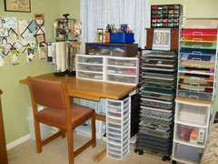 Scraproom (February 2012) - Desk and paper racks