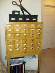 Scraproom (February 2012) - Library card catalog unit
