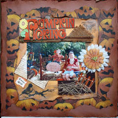 Pumpkin Patch, card stock courtesy of the Paper Butterfly & Melinda Gossage.