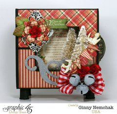 Twelve Days of Christmas Mixed Media Box with Grpahic 45