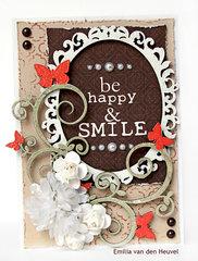 Be Happy card {Creative Embellishments}