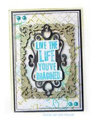 Mixed Media card {Creative Embellishments}