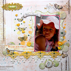Enjoy Yourself {Scrapbook Challenges}