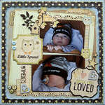 Little Sprout {DT work for Scrapbook Challenges}