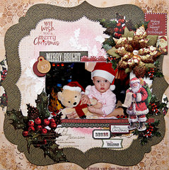 Merry Little Christmas {Kaisercraft & Merly Impressions}