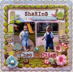 Sharing Everything {Round 1 Scrapbook Challenges}