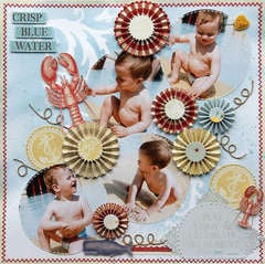 Crisp Blue Water {DT work for Scrapbook Challenges}