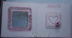 The inside of the heart card