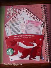 My first SMASHbook page completed - Meeting in Starbucks