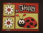 Lady Bug New Baby card