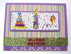 Stripes and Confetti handmade birthday card