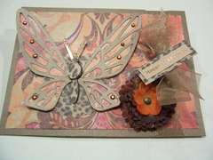 Leopard Butterfly Birthday Card