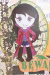 Vampire Girl Halloween card - close up