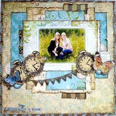 2 handen op 1 buik *Bo Bunny Welcome Home & stamps&*