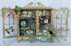Altered Scrapmatts Cabinet