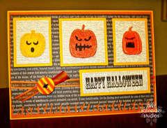 Halloween 2011 - Pumpkins in a row