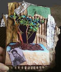 Oriental Bonsai Theme Recycled Father's Day Card