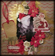 DECEMBER MEMORIES ~Scraps of Elegance~ Mistletoe Memories December Kit 2013
