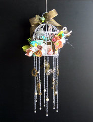Love Bird Cage Wind Chime *Flying Unicorn CT*