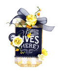 Happiness Lives Here Tag *Scrapbook Adhesives by 3L DT*