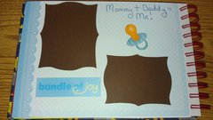 SIL baby book- Mommy+Daddy=Me