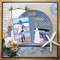 Sun sand and surf