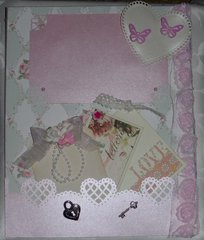 Shabby Chic Smash Page Side A for Martica's Swap