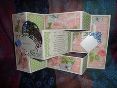 Tri Fold Birthday Card (open)