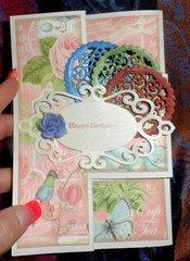 Tri Fold Birthday Card (closed)