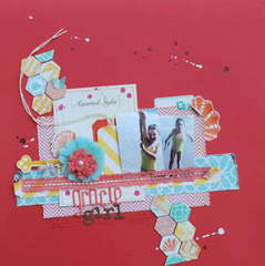 my Gracie Girl~ Little Red Scrapbook September