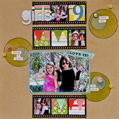 Girls at 9 *SC June Paper Moon kit*