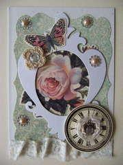 Shabby Chic Rose Card
