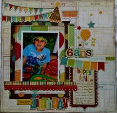 Happy Birthday-Bonne Fête 6 ans