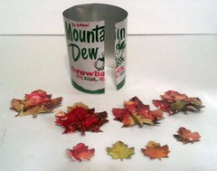 Recycled metal embellishment leaves