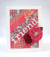 Red & Pink Friendship Card