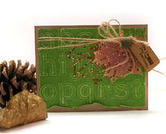 Autumn Leaf Card *Zva Creative*