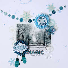 SNOW MAGIC **Glue Arts**